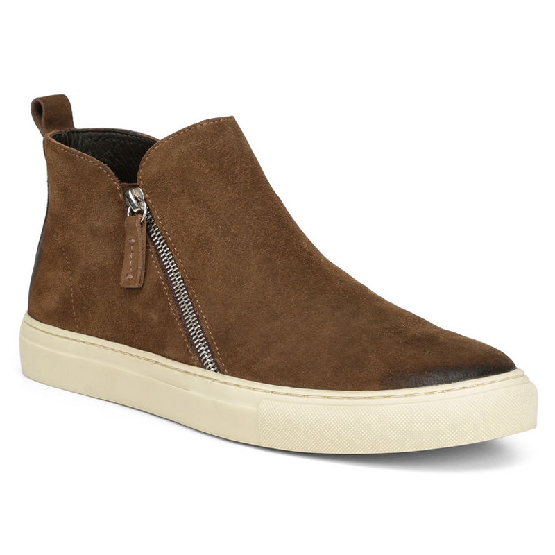 Donald Pliner Barlow Suede Calf Sneaker Shoe Tobacco Image