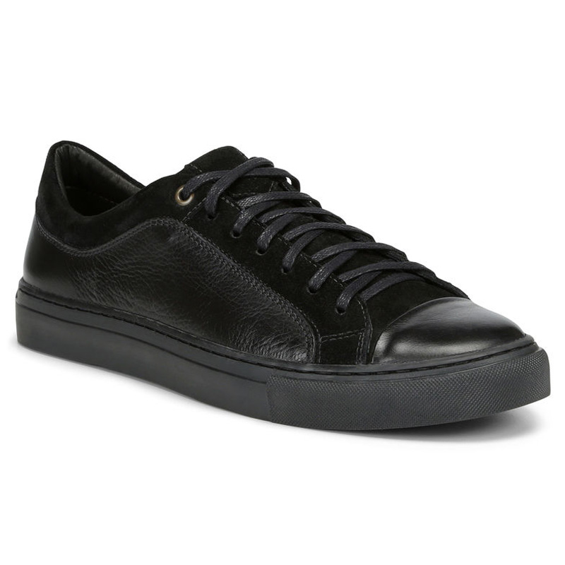 Donald Pliner Berkeley Calf Sneaker Shoe Black Image