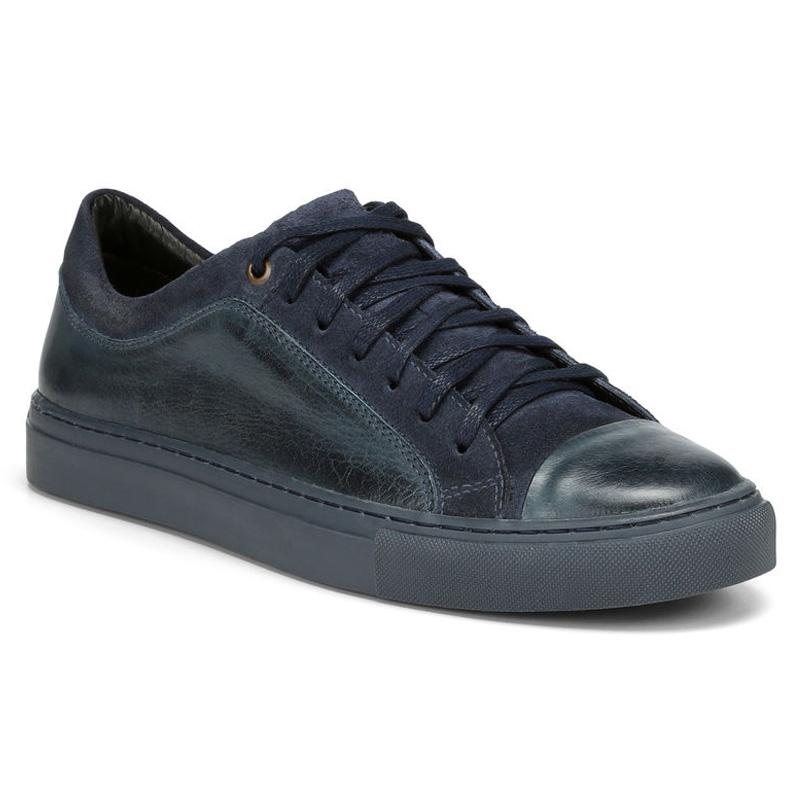 Donald Pliner Berkeley Calf Sneaker Shoe Navy Image