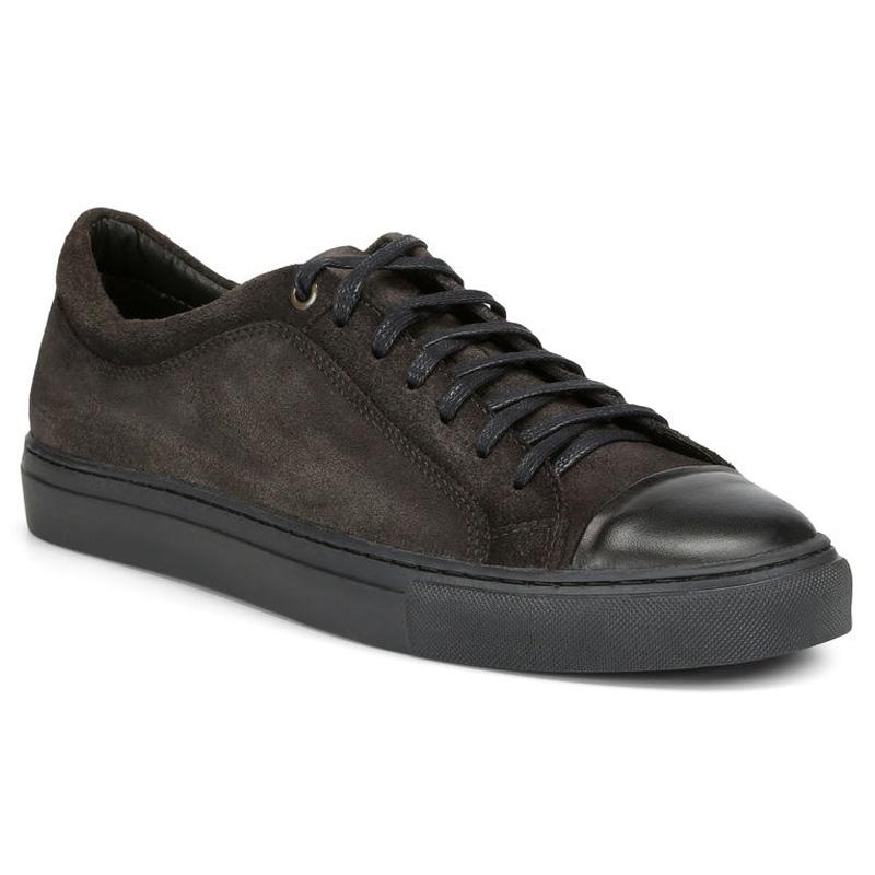 Donald Pliner Berkeley Suede Calf Sneaker Shoe Dark Gray Image
