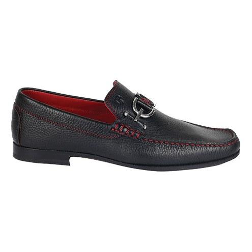 Donald J Pliner Dacio 2 Deerskin Loafers Black Image