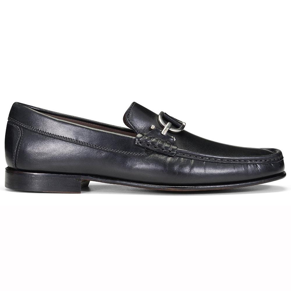 Donald Pliner Dacio Calfskin Loafers Black Image