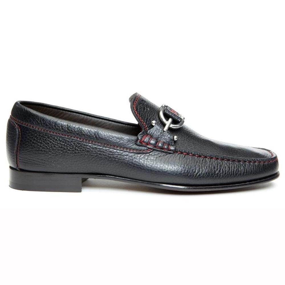 Donald Pliner Dacio Leather Loafers Black Image