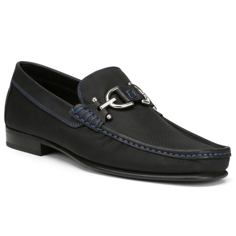 Donald Pliner Dacio Nylon Loafer Shoe Black Image