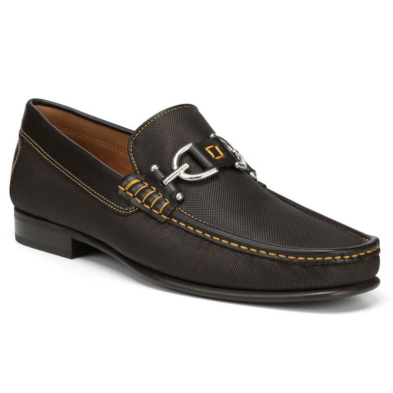 Donald Pliner Dacio Nylon Loafer Shoe Chocolate Image