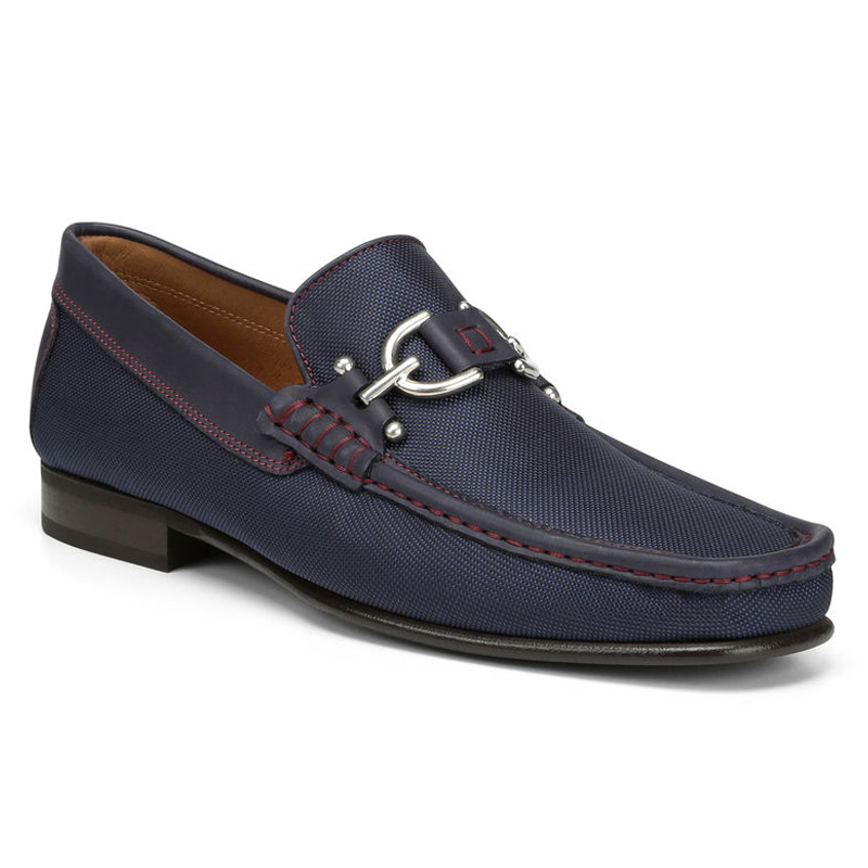 Donald Pliner Dacio Nylon Loafer Shoe Navy Image