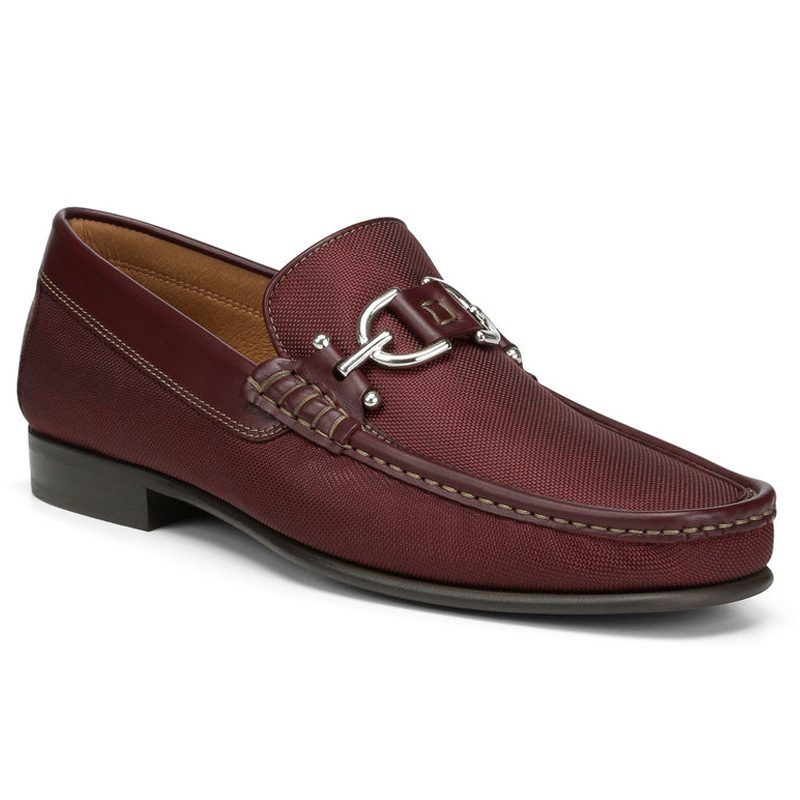 Donald Pliner Dacio Nylon Loafer Shoe Wine Image