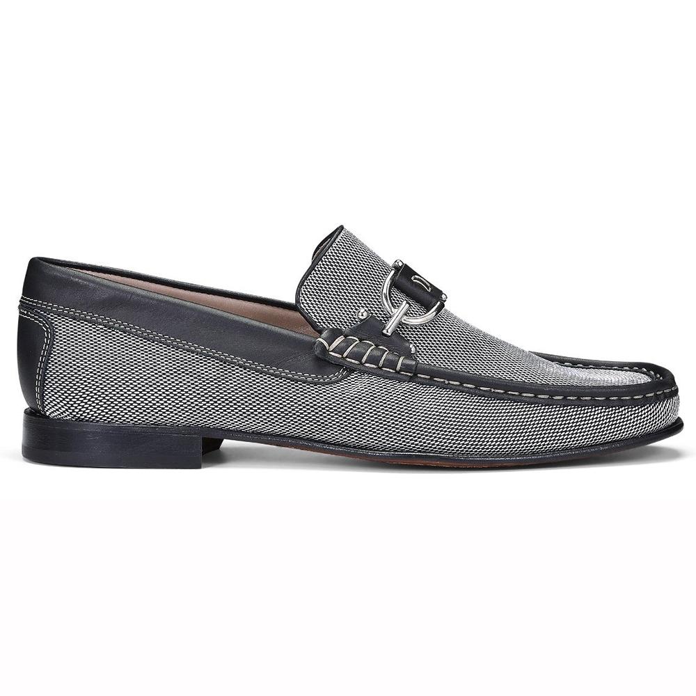Donald Pliner Dacio Nylon Loafers Pewter / Black Image