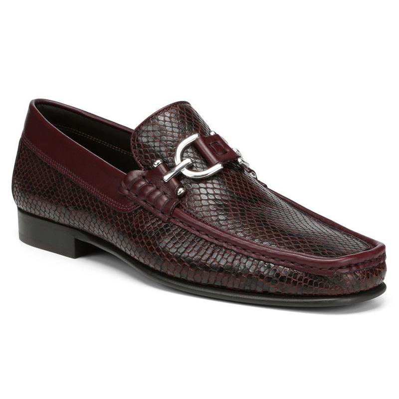 Donald Pliner Dacio Python Print Calf Loafer Shoe Chianti Image