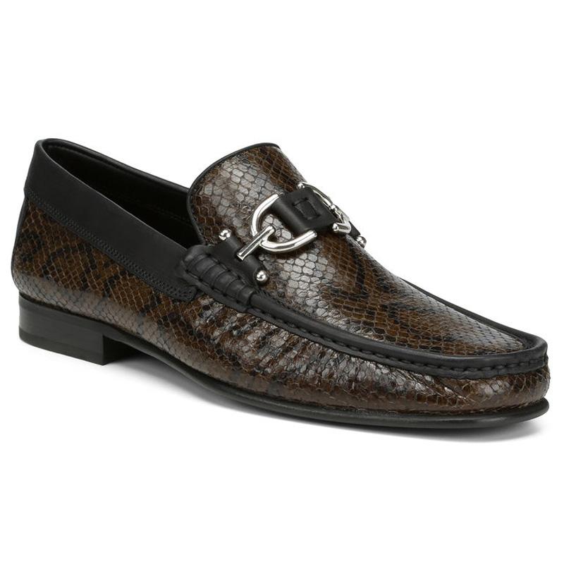 Donald Pliner Dacio Python Print Calf Loafer Shoe Olive Image