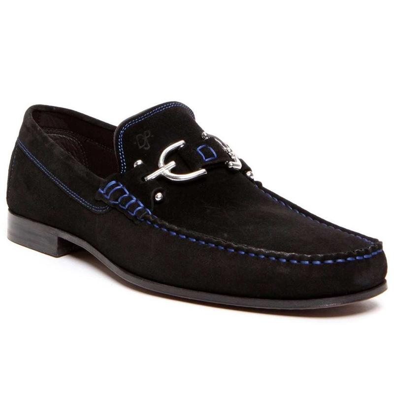 Donald Pliner Dacio Suede Loafers Black