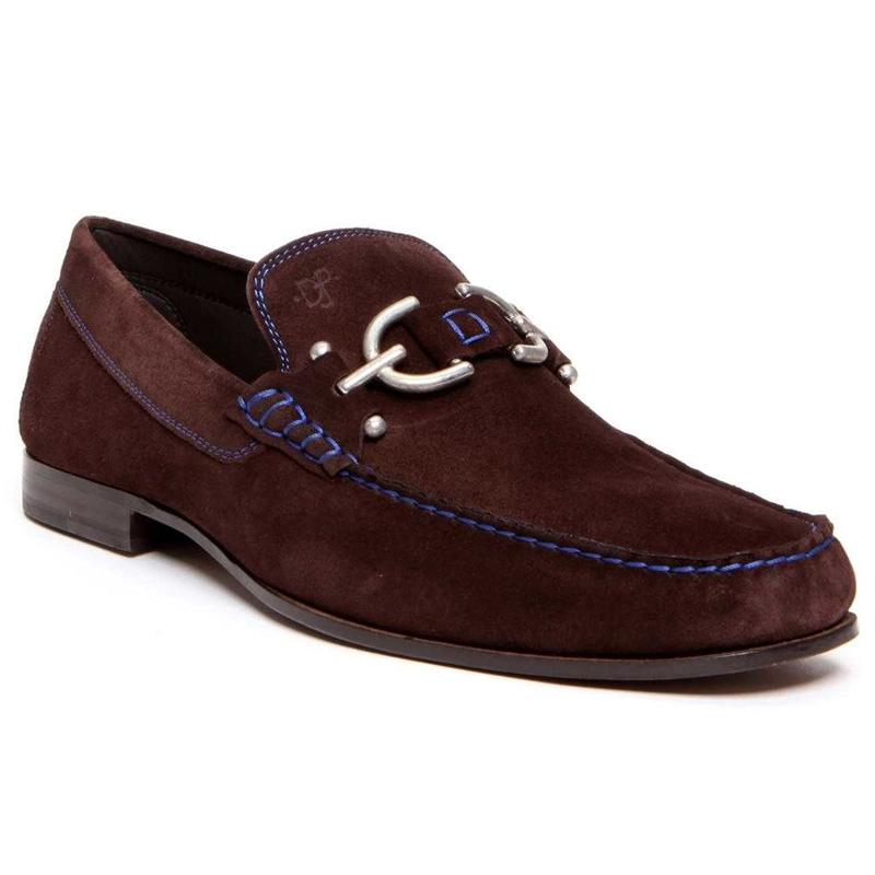 Donald Pliner Dacio Suede Loafer Shoe Expresso Image