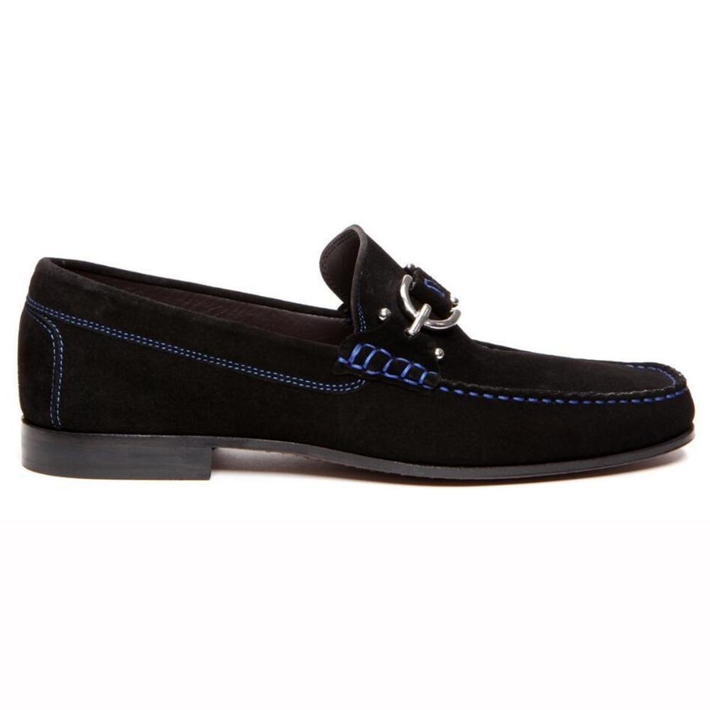 Donald Pliner Dacio Suede Loafers Black Image