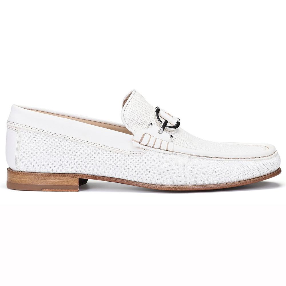 Donald Pliner Dacio Textured Calfskin Loafers Ivory Image