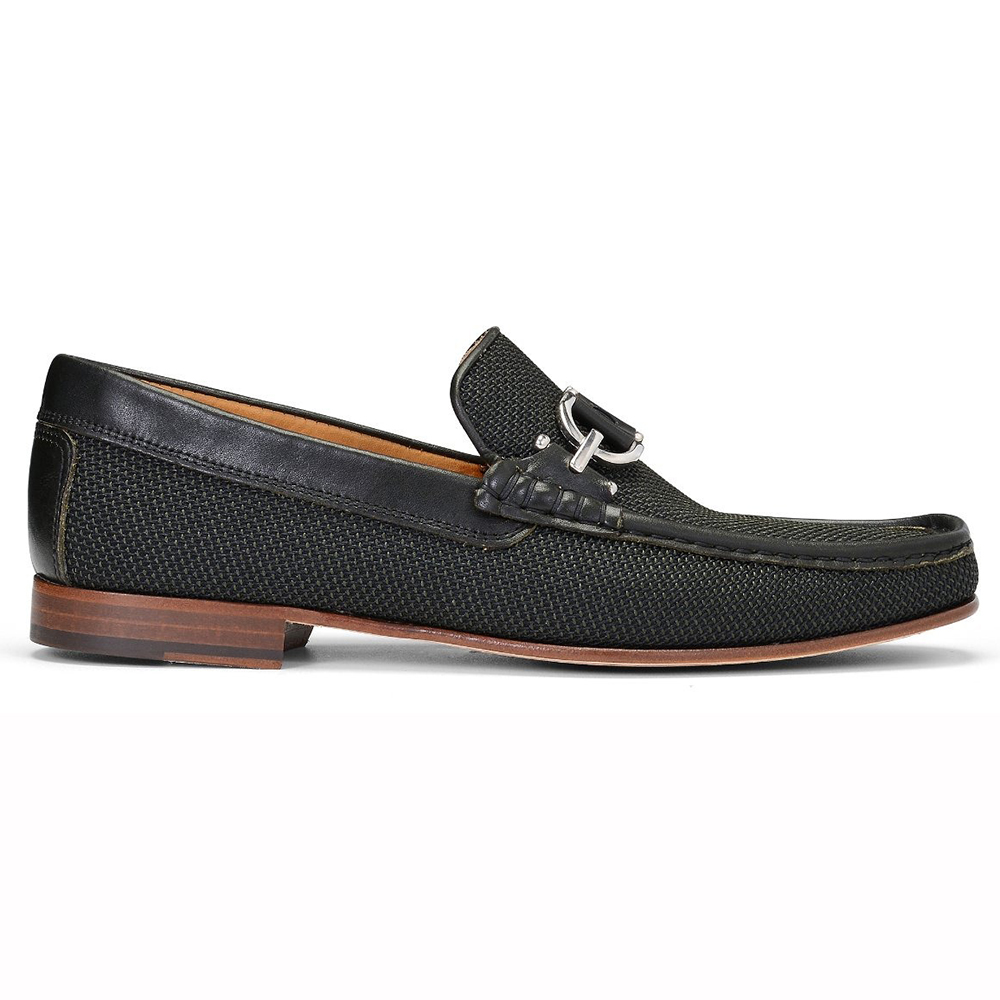 Donald Pliner Dacio Woven Leather Loafers Green Image