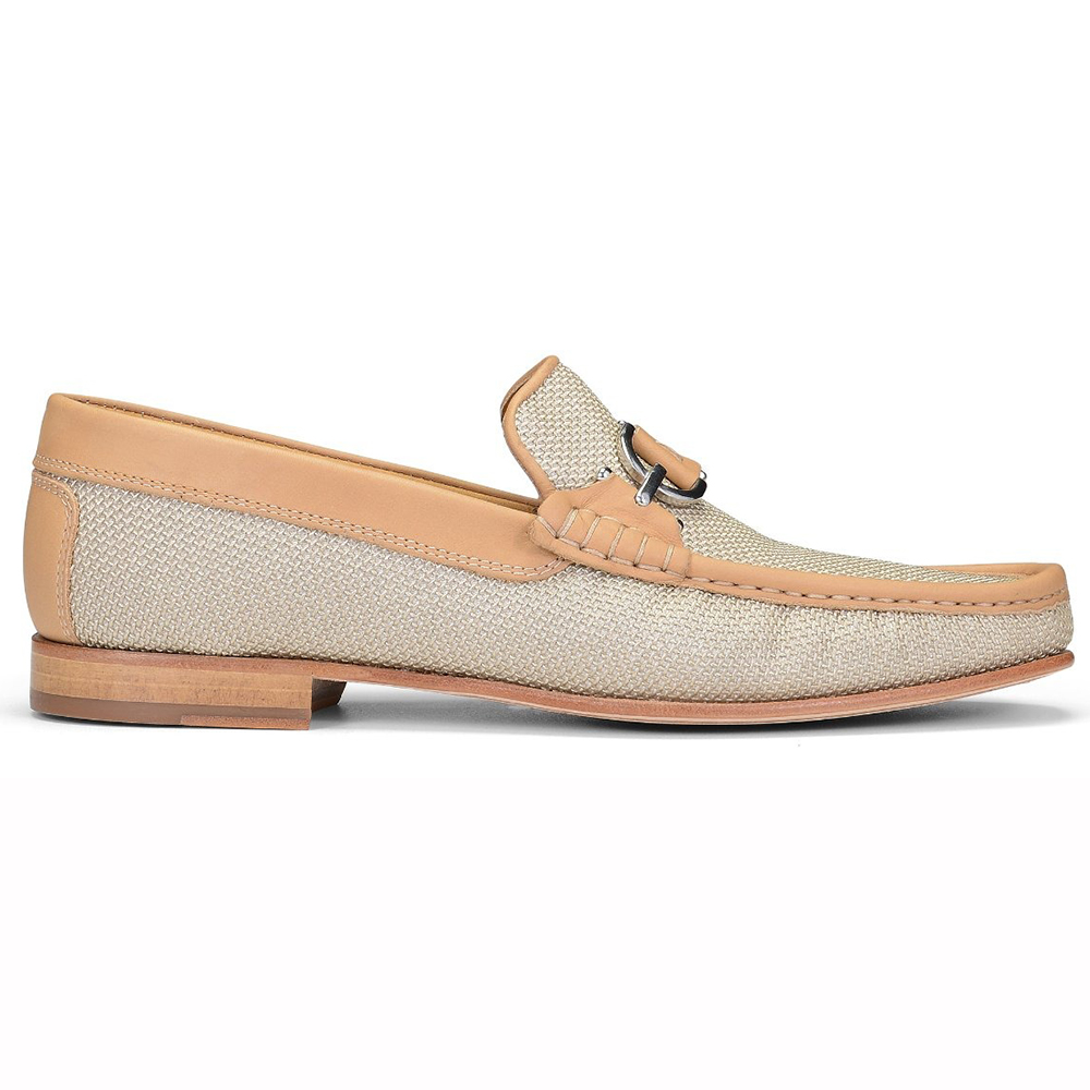 Donald Pliner Dacio Woven Leather Loafers Natural Image