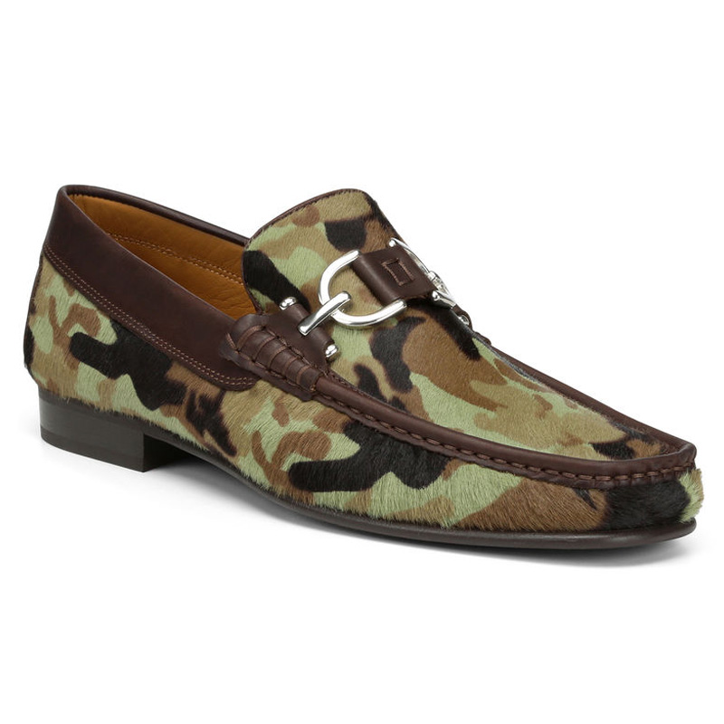 Donald Pliner Dacio 3 Haircalf Loafer Shoe Olive Camo Image