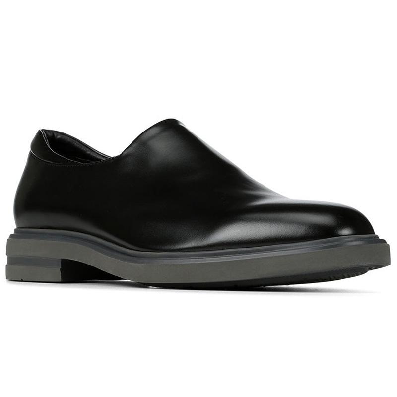 Donald Pliner Eliam Nappa Stretch Loafer Shoe Black Image