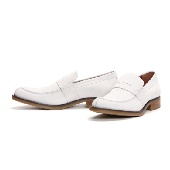 31bfe2642ca Donald J Pliner Evana Suede Penny Loafers White Image