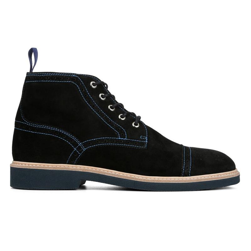 Donald Pliner Grant Suede Boots Black Image
