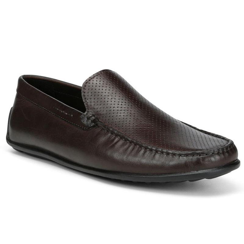 Donald Pliner Iggy Calf Loafer Shoe Brown Image