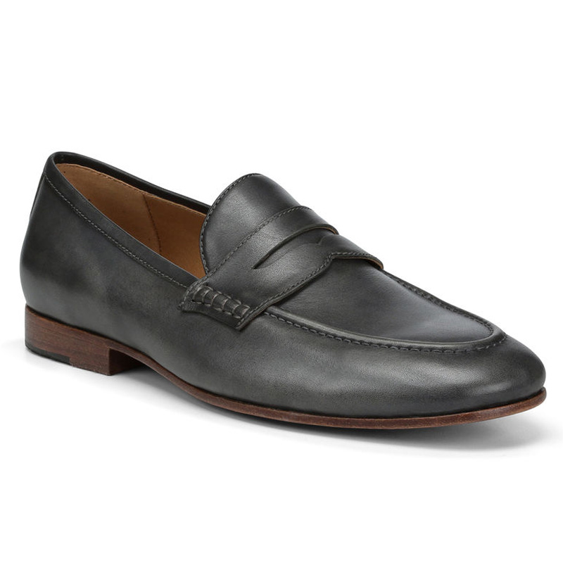 Donald Pliner Marque Calf Leather Loafer Shoe Charcoal Image