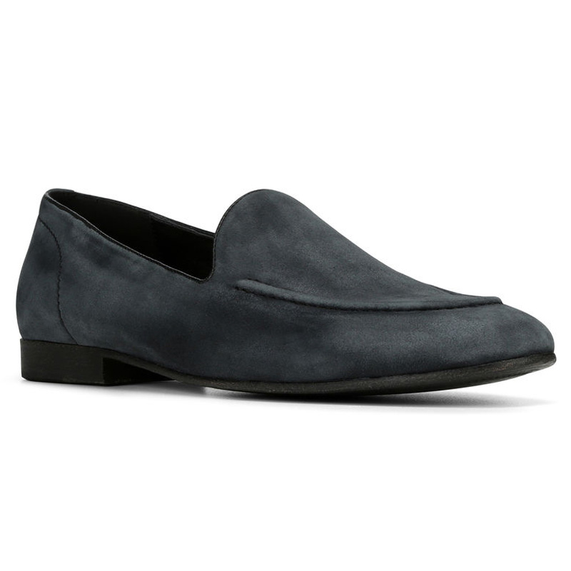 Donald Pliner Mathis Suede Loafer Shoe Black Image