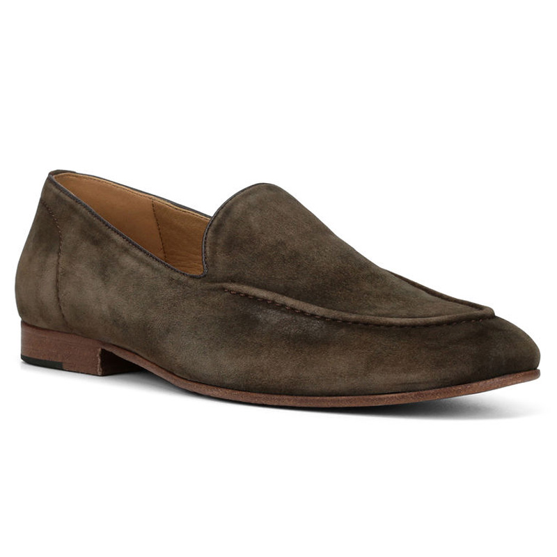 Donald Pliner Mathis Suede Loafer Shoe Brown Image