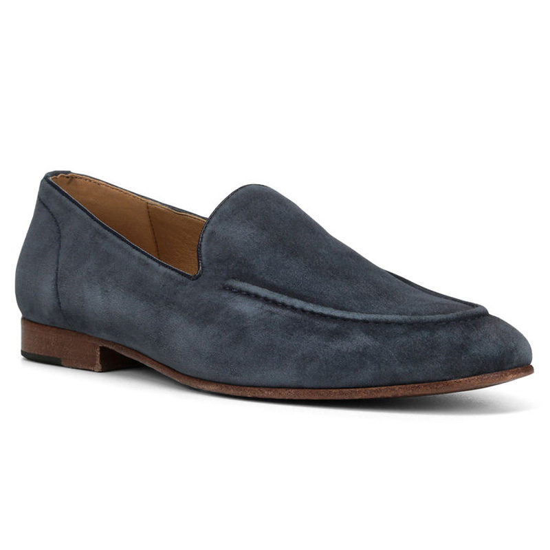 Donald Pliner Mathis Suede Loafer Shoe Denim Image
