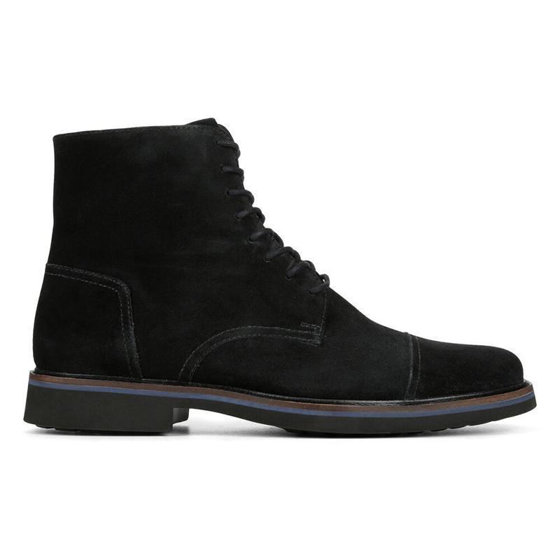 Donald Pliner Mave Suede Boots Black Image
