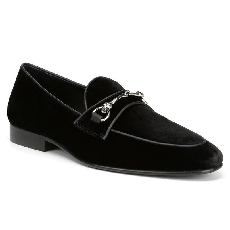 Donald Pliner Palti Velvet Bit Loafers Black Image