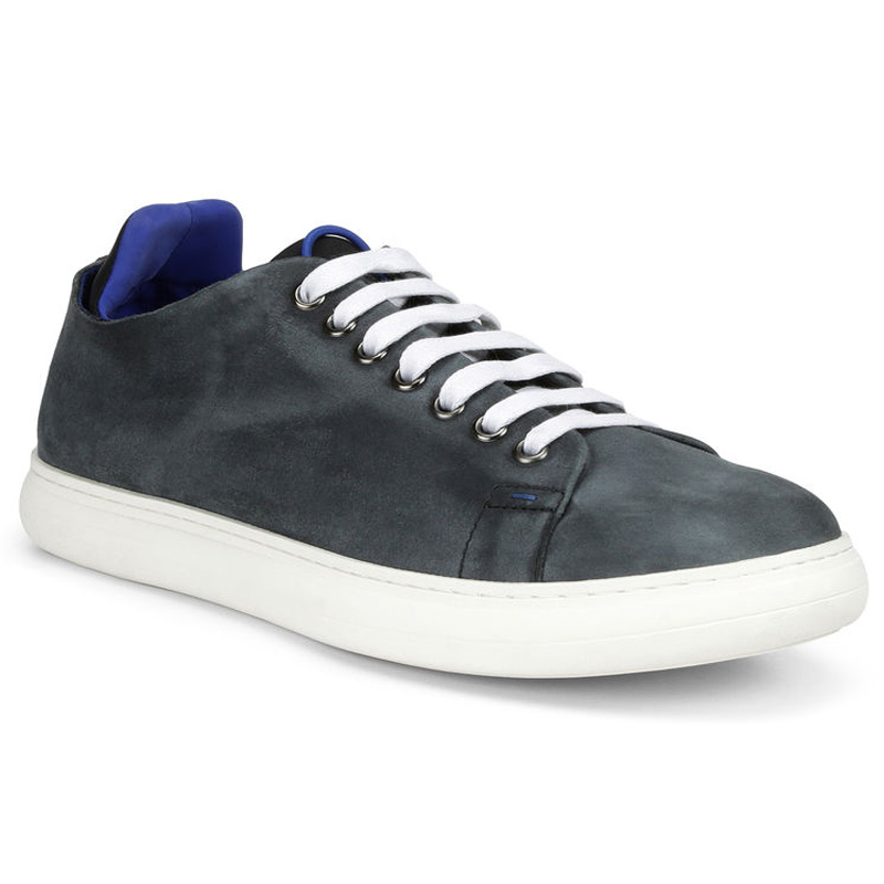 Donald Pliner Pierce Suede Sneaker Shoe Black Image