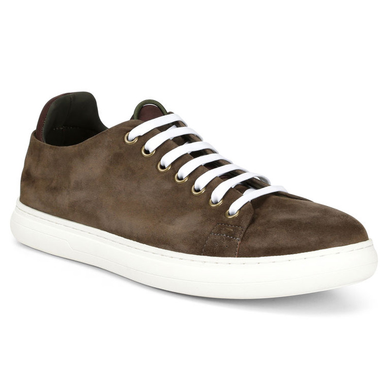 Donald Pliner Pierce Suede Sneaker Shoe Brown Image