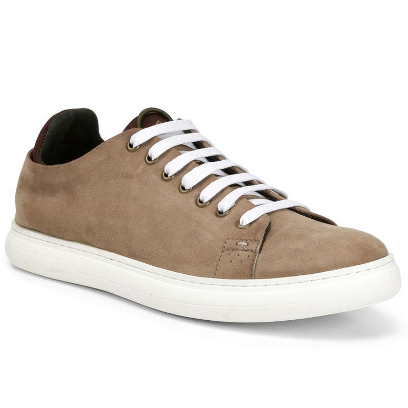 Donald Pliner Pierce Suede Sneaker Shoe Tan Image