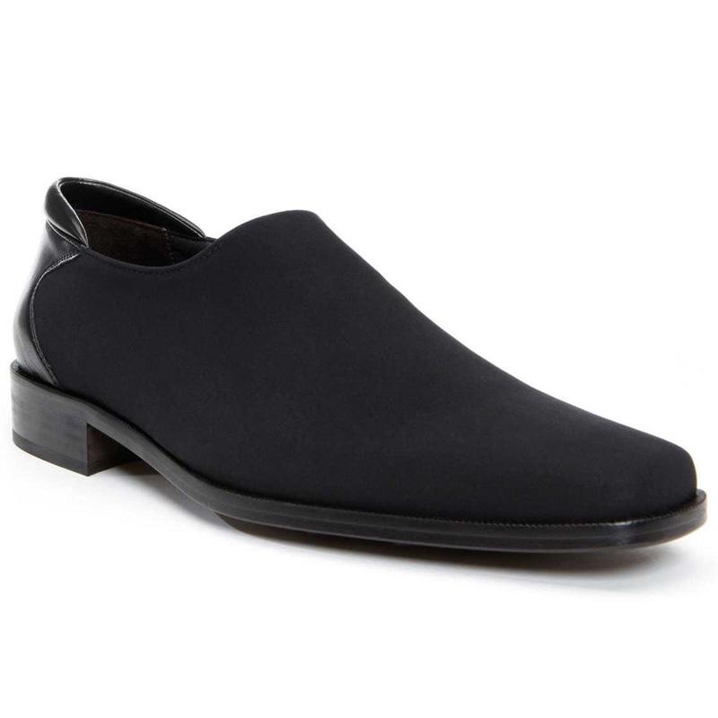 Donald Pliner Rex Crepe Elastic Loafer Shoe Black Image