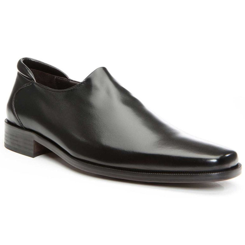 Donald Pliner Rex Nappa Stretch Loafer Shoe Black Image