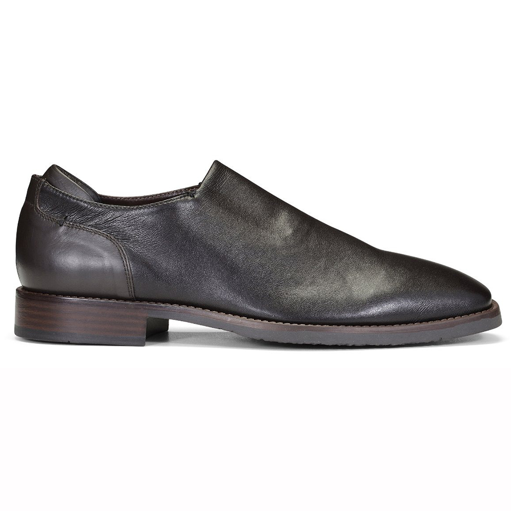 Donald Pliner Rexx Leather Shoes Dark Brown Image