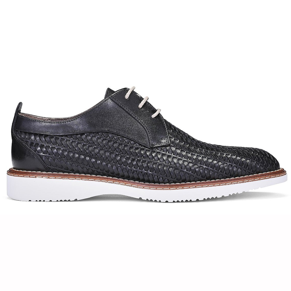 Donald Pliner Rick Woven Calfskin Sneakers Black Image