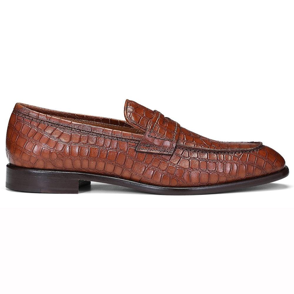 Donald Pliner Robbie Croco Loafers Cognac Image