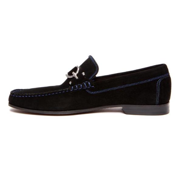 Donald J Pliner Dacio 2 Suede Loafers Black Image