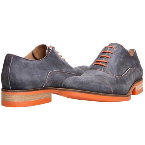 Donald J Pliner Embe Suede Cap Toe Shoes Black Wash | MensDesignerShoe