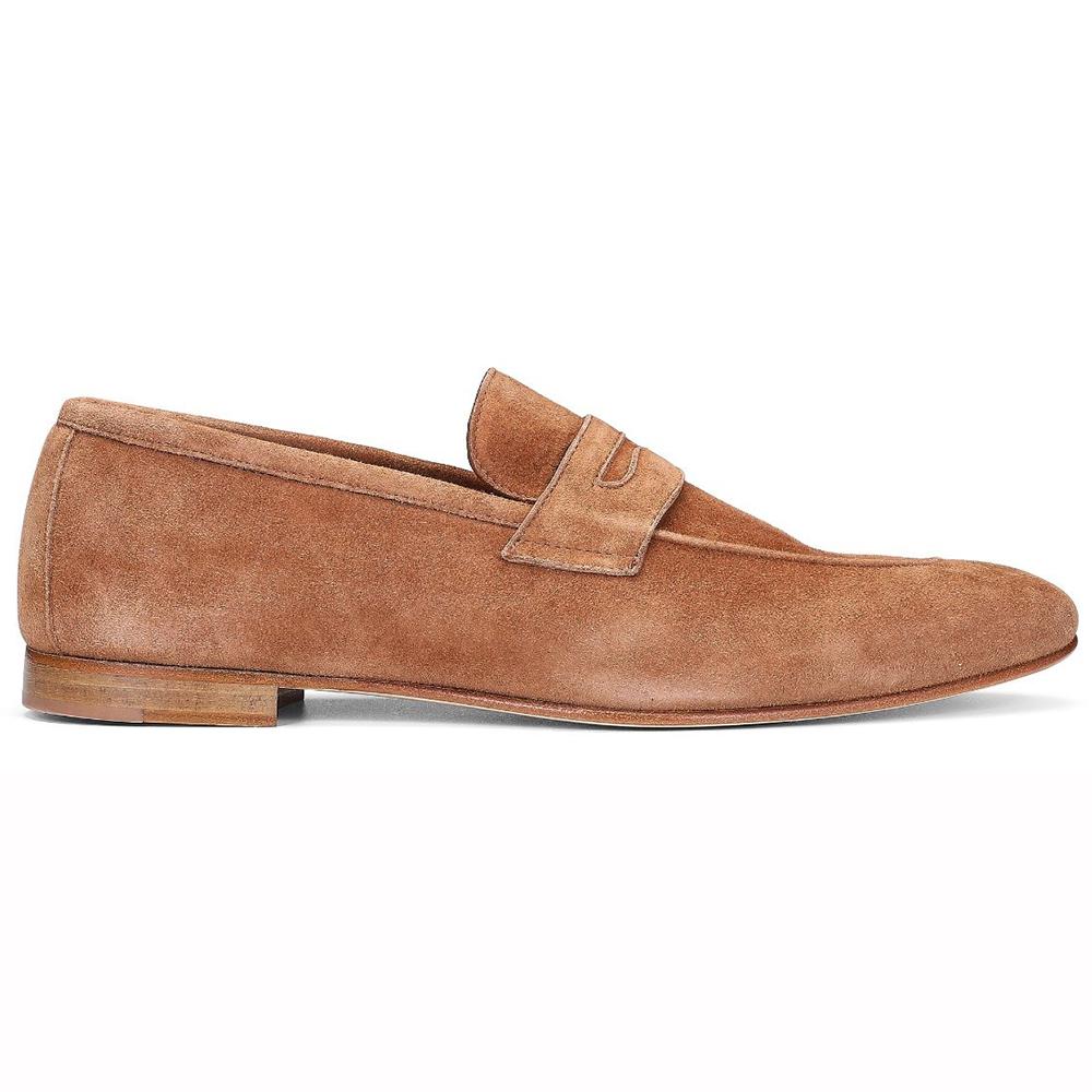 Donald Pliner Tender Suede Loafers Cognac Image