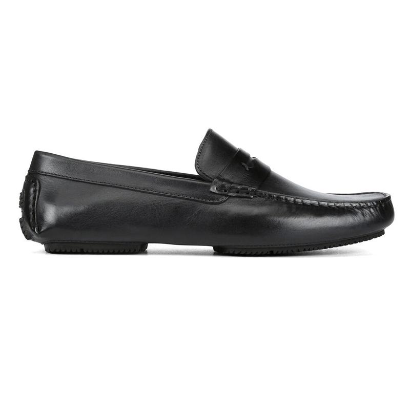 Donald Pliner Vione Calfskin Loafer Black Image