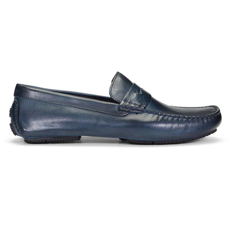 Donald Pliner Vione Calfskin Loafer Navy Image