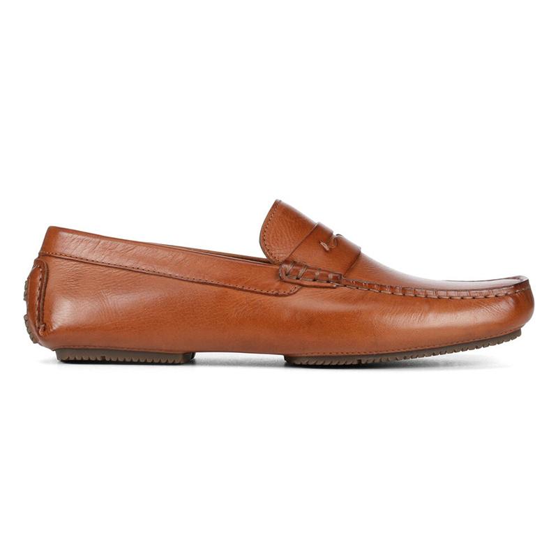 Donald Pliner Vione Calfskin Loafer Saddle Image