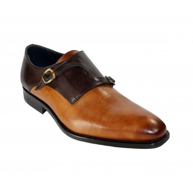 Duca by Matiste 0203 Cognac / Brown Monk Strap Shoes Image