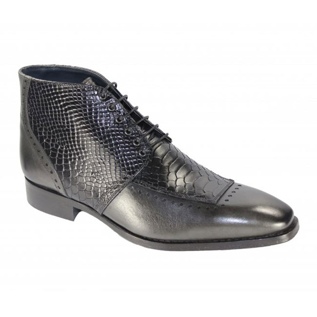 Duca by Matiste Pisa Grey / Black Boots Image