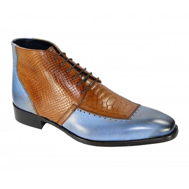 Duca by Matiste Pisa Light Blue / Cognac Boots Image
