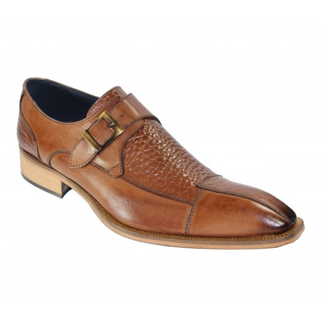Duca by Matiste Cava Brandy Monk Strap Shoes Image