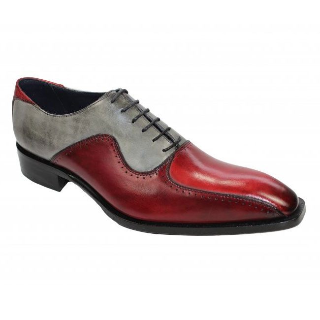 Duca by Matiste Arezzo Burgundy Combo Shoes Image